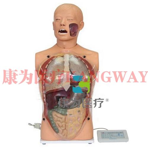 """""""康为医疗""""医模高仿真透明洗胃模型(生命体征设置)"""