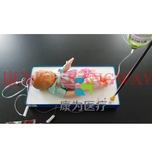"""""""康为医疗""""内置血液循环系统高级智能婴儿头皮静脉输液练习模型"""