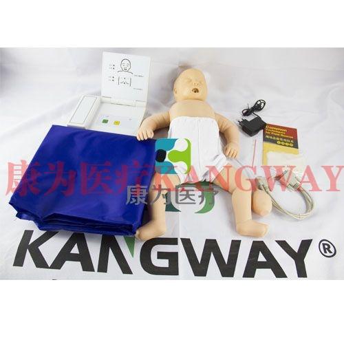 """""""康为医疗""""高级电子婴儿心肺复苏标准化模拟病人,婴儿心肺复苏模拟人(带电子监测)"""