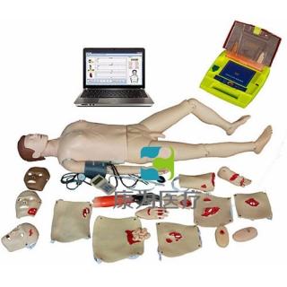"""""""康为医疗""""高级电脑全功能急救训练标准化模拟病人(心肺复苏、CPR血压测量、AED除颤,创伤与基础护理)"""