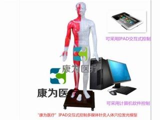 """""""康为医疗""""IPAD交互式控制多媒体针灸人体穴位发光模型(光电感应)"""